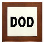 DOD Department of Defense Framed Tile