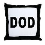 DOD Department of Defense Throw Pillow