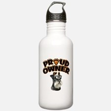 Proud Owner of a Miniature Schnauzer Water Bottle