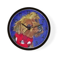 Kissable Yorkie Wall Clock