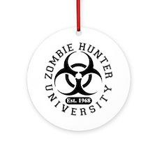 A Zombie Hunter University Ornament (Round)