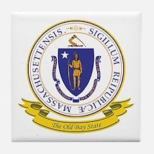 Massachusetts Seal Tile Coaster