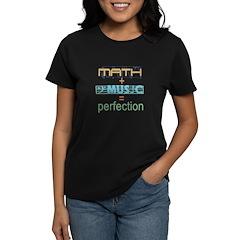 math and music Women's Dark T-Shirt