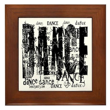 Funky Dance by DanceShirts.com Framed Tile