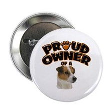 """Proud Owner of a Jack Russell 2.25"""" Button (10 pac"""
