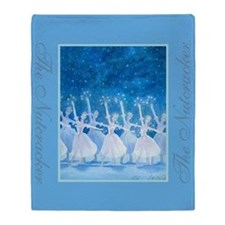Dance of the Snowflakes Throw Blanket