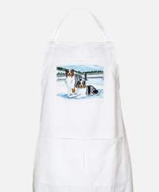 Austrailian Shepherd Blues in Apron