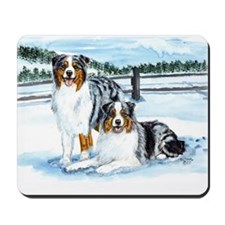 Austrailian Shepherd Blues in Mousepad