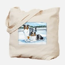 Austrailian Shepherd Blues in Tote Bag