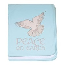 Peace on Earth baby blanket