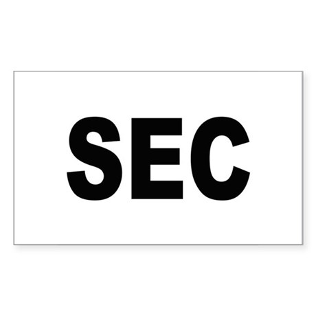 SEC Securities and Exchange Commission Sticker (Re