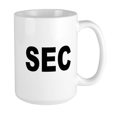SEC Securities and Exchange Commission Large Mug