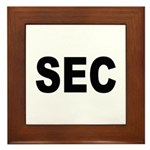 SEC Securities and Exchange Commission Framed Tile
