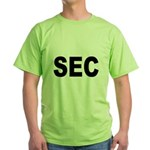SEC Securities and Exchange Commission Green T-Shi