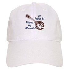 Rather Be Playing My Mandolin Baseball Cap