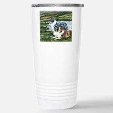 Austrailian Shepherd Blue and Travel Mug