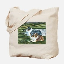 Austrailian Shepherd Blue and Tote Bag