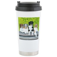 Austrailian Shepherd Puppy Li Travel Mug
