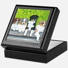 Austrailian Shepherd Puppy Li Keepsake Box