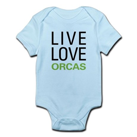 Live Love Orcas Infant Bodysuit