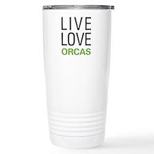 Live Love Orcas Travel Mug