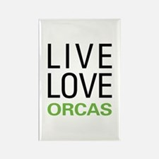 Live Love Orcas Rectangle Magnet