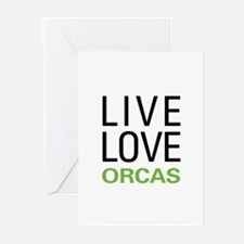 Live Love Orcas Greeting Cards (Pk of 10)