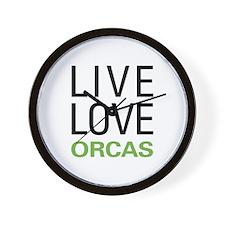 Live Love Orcas Wall Clock
