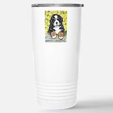 Bernese Mountain Dog Fence Pu Travel Mug