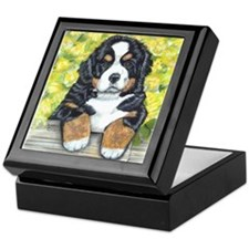 Bernese Mountain Dog Fence Pu Keepsake Box