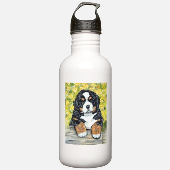 Bernese Mountain Dog Fence Pu Water Bottle