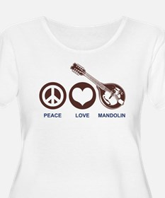 Peace Love Mandolin T-Shirt
