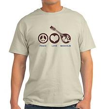 Peace Love Mandolin T-Shirt
