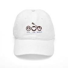 Peace Love Mandolin Baseball Cap