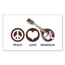 Peace Love Mandolin Decal