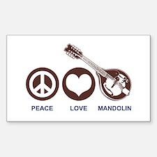 Peace Love Mandolin Decal