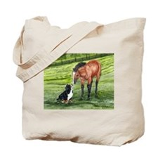 Bernese Mountain Dog Pup and Tote Bag