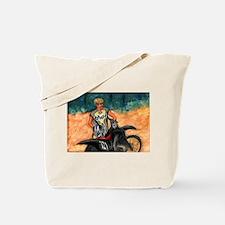 Dirt Biker in Thor Outfit Tote Bag