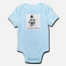 Unique Love skulls Infant Bodysuit