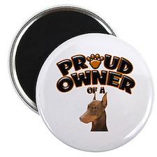 Proud Owner of a Doberman Magnet
