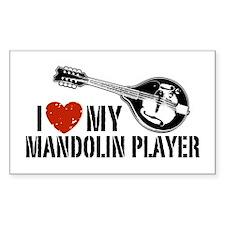I Love My Mandolin Player Decal