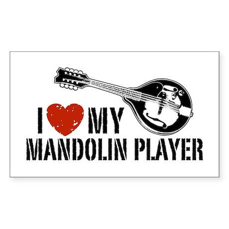 I Love My Mandolin Player Sticker (Rectangle)
