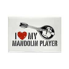 I Love My Mandolin Player Rectangle Magnet