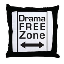 Drama Free Zone Throw Pillow