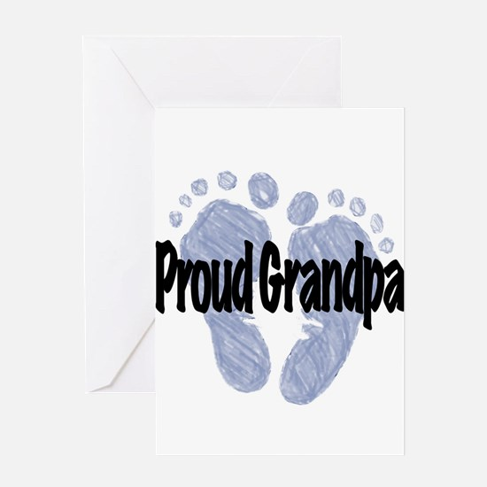 Proud Grandpa (Boy) Greeting Card