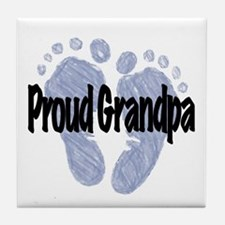 Proud Grandpa (Boy) Tile Coaster