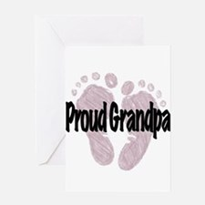 Proud Grandpa (Girl) Greeting Card