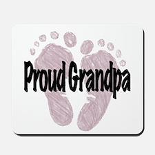 Proud Grandpa (Girl) Mousepad