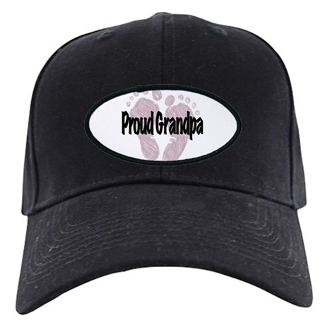 Proud Grandpa (Girl) Black Cap