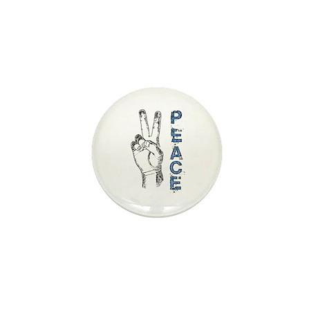 Peace V-Sign Mini Button (10 pack)